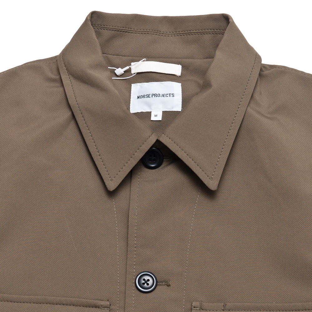 Norse Projects Kyle Travel Utility Khaki at shoplostfound, neck