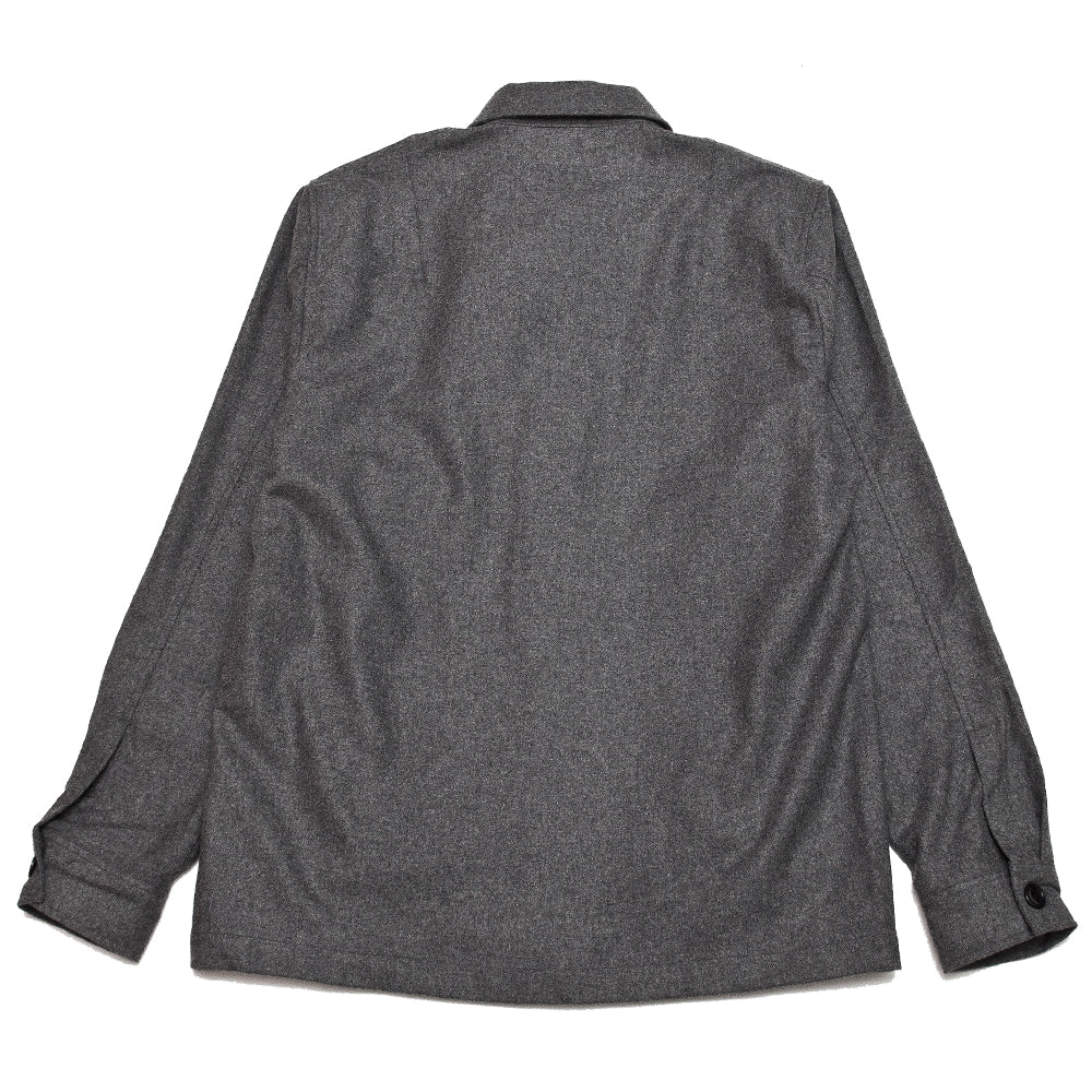 Norse Projects Kyle Wool Shirt Charcoal Melange at shoplostfound, back