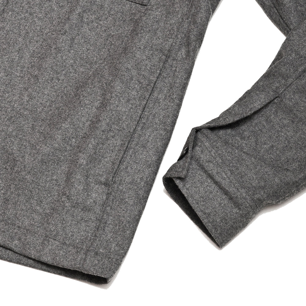Norse Projects Kyle Wool Shirt Charcoal Melange at shoplostfound, cuff