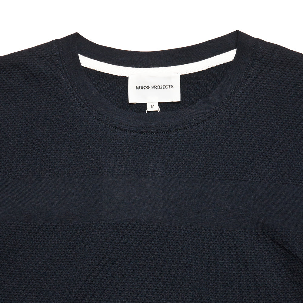 Norse Projects Niels Bubble Dark Navy at shoplostfound, neck