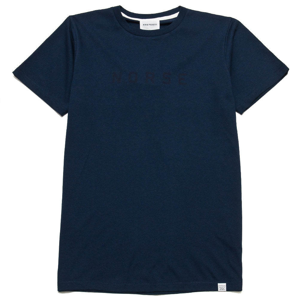 Norse Projects Niels Standard Logo T-Shirt Navy