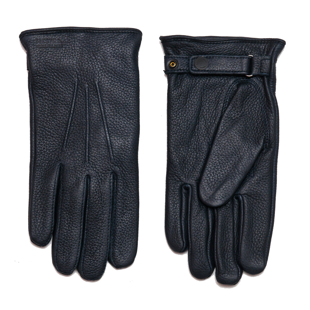 Norse Projects x Hestra Salen Gloves Dark Navy at shoplostfound, front