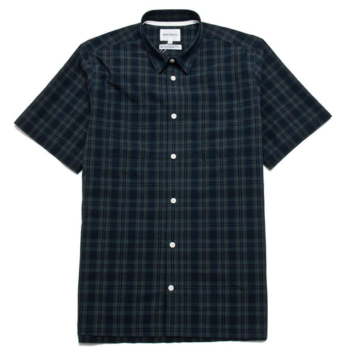 Norse Projects Oscar Cotton Nylon SS Dark Navy shoplostfound 1