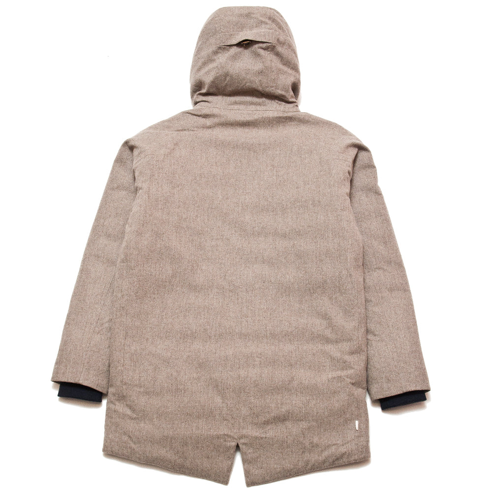 Norse Projects Rokkvi 4.0 Waterproof Wool Utility Khaki at shoplostfound, back