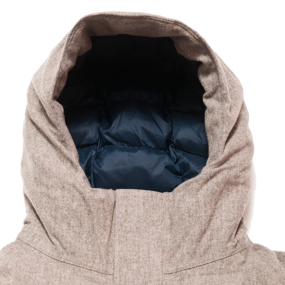 Norse Projects Rokkvi 4.0 Waterproof Wool Utility Khaki at shoplostfound, neck