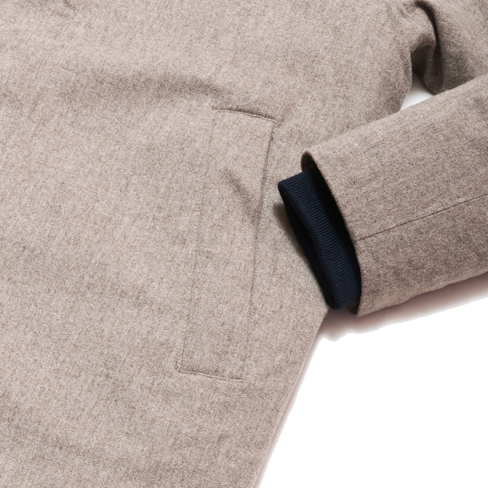 Norse Projects Rokkvi 4.0 Waterproof Wool Utility Khaki at shoplostfound, cuff