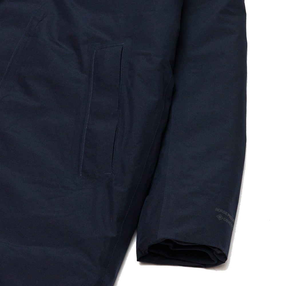 Norse Projects Rokkvi 5.0 Gore Tex Dark Navy at shoplostfound, cuff