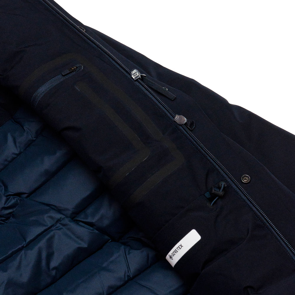 Norse Projects Rokkvi 5.0 Gore Tex Dark Navy at shoplostfound, tag