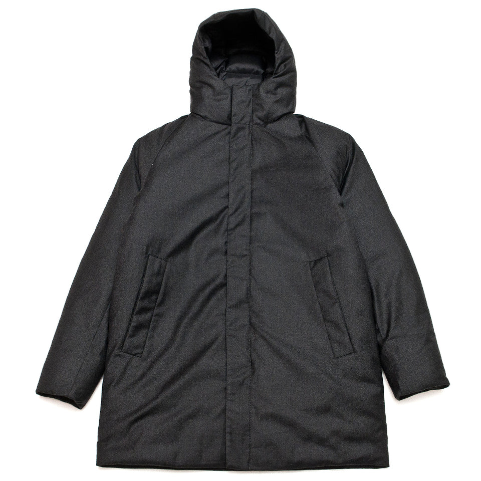 Norse Projects Rokkvi 5.0 Technical Wool Charcoal Melange at shoplostfound, front