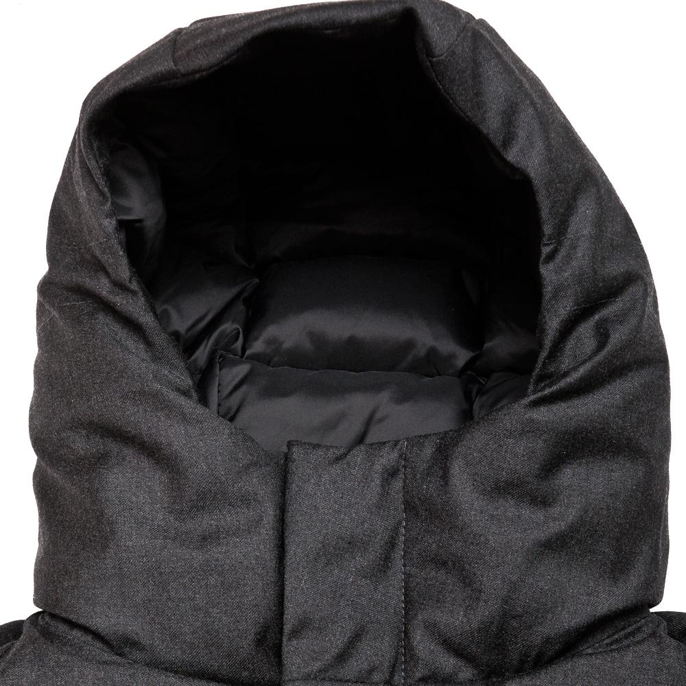 Norse Projects Rokkvi 5.0 Technical Wool Charcoal Melange at shoplostfound, neck