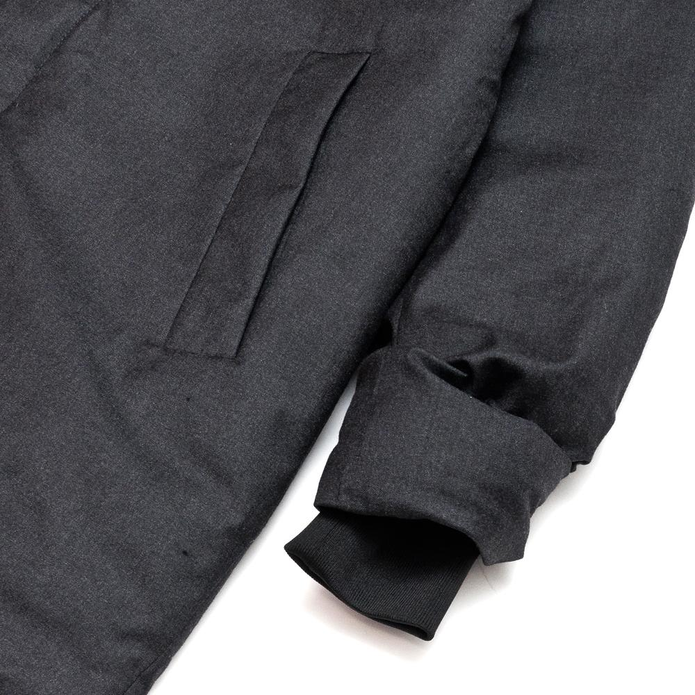 Norse Projects Rokkvi 5.0 Technical Wool Charcoal Melange at shoplostfound, cuff