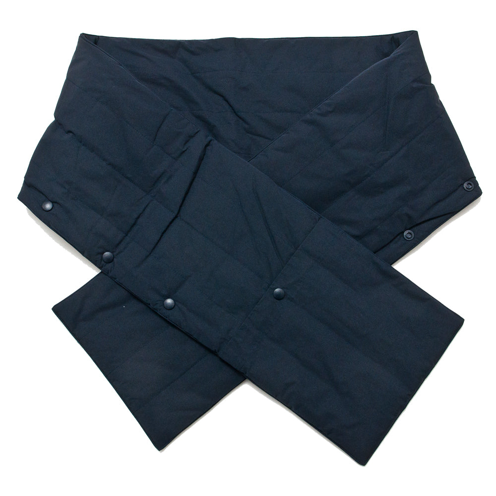 Norse Projects Snap Quilt Scarf Dark Navy at shoplostfound, front