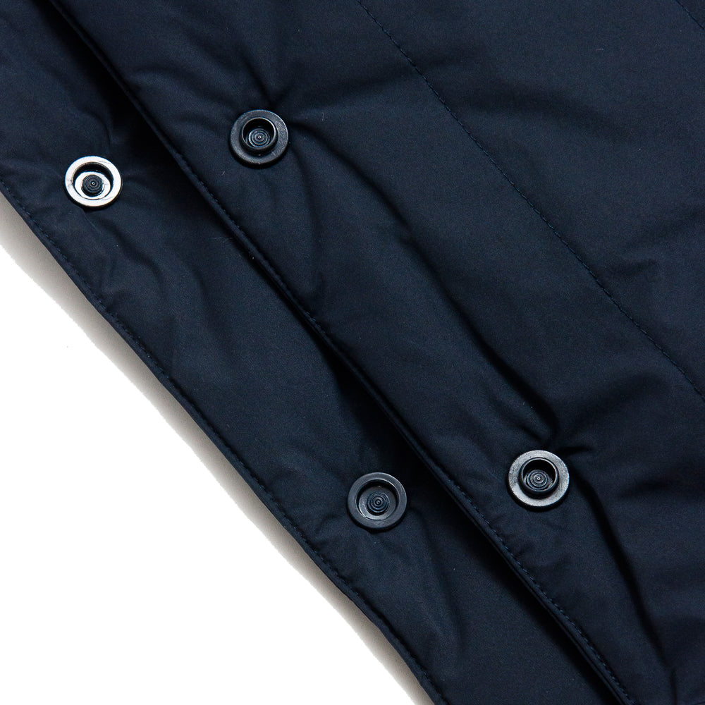Norse Projects Snap Quilt Scarf Dark Navy at shoplostfound, detail