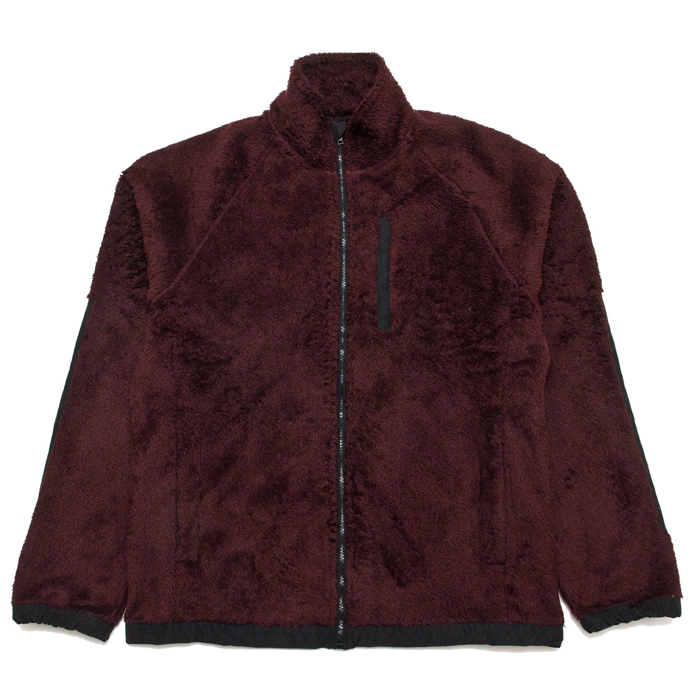 Norse Projects Tycho Zip Fleece Mulberry Red at shoplostfound, front