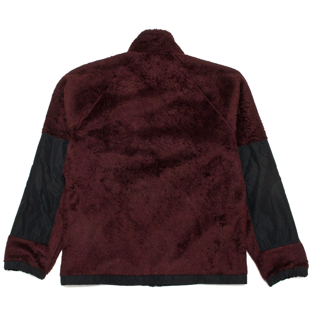 Norse Projects Tycho Zip Fleece Mulberry Red at shoplostfound, back