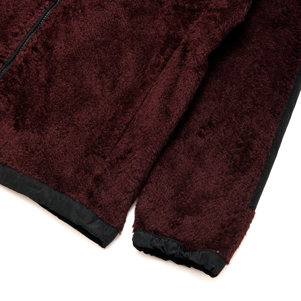 Norse Projects Tycho Zip Fleece Mulberry Red at shoplostfound, cuff