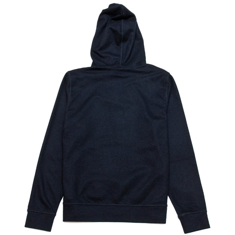 Norse Projects Vagn Wool Hood Sweater Dark Navy at shoplostfound, front