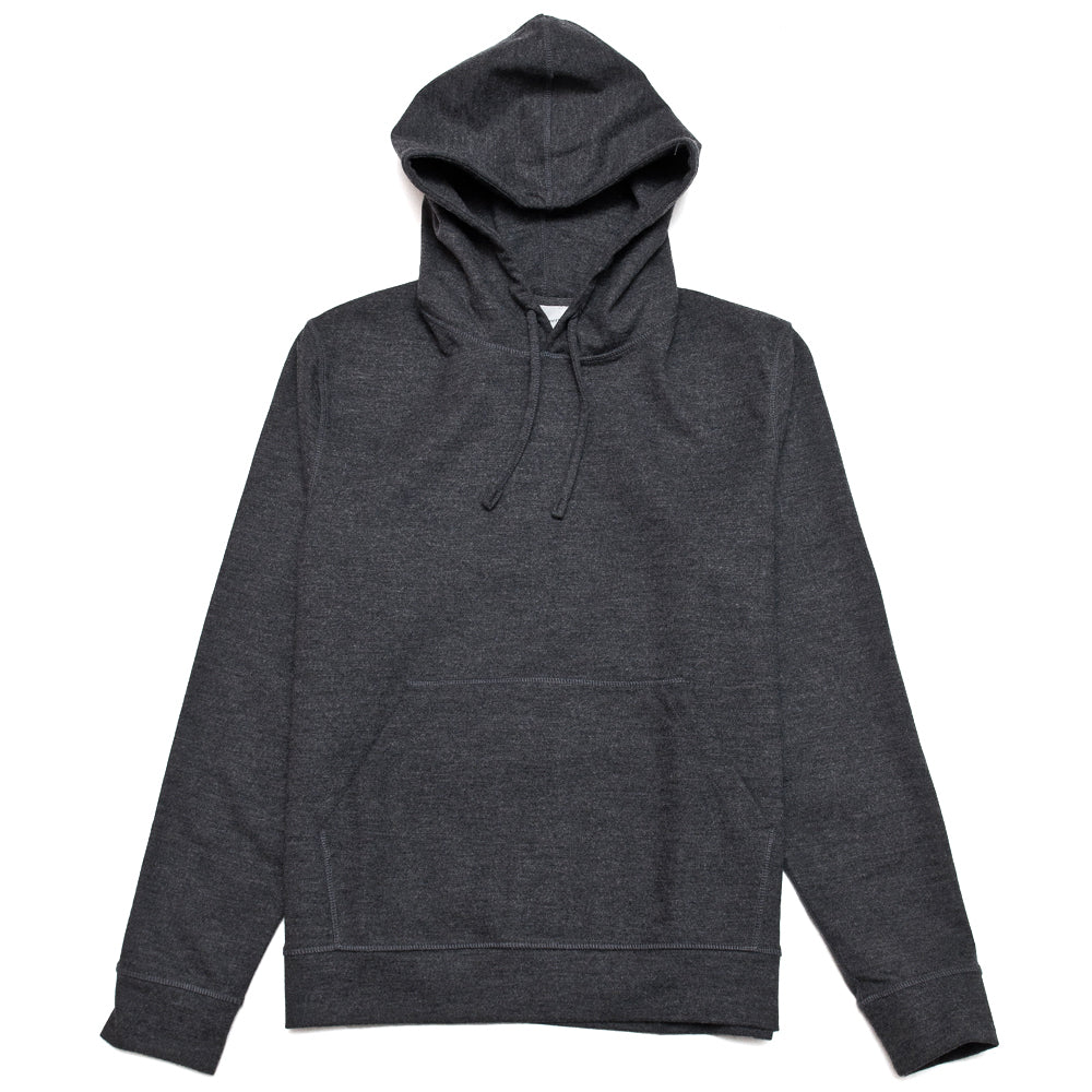 Norse Projects Vagn Wool Hood Sweater Charcoal Melange at shoplostfound, front