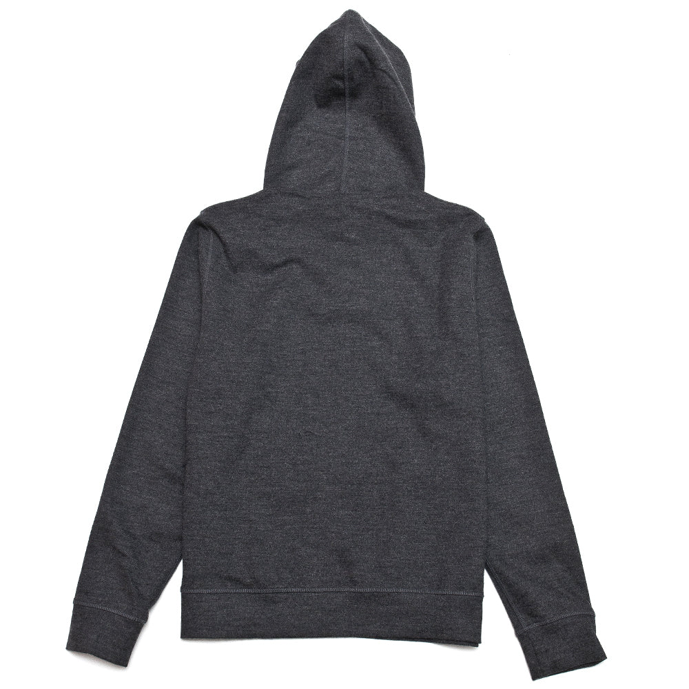 Norse Projects Vagn Wool Hood Sweater Charcoal Melange at shoplostfound, back