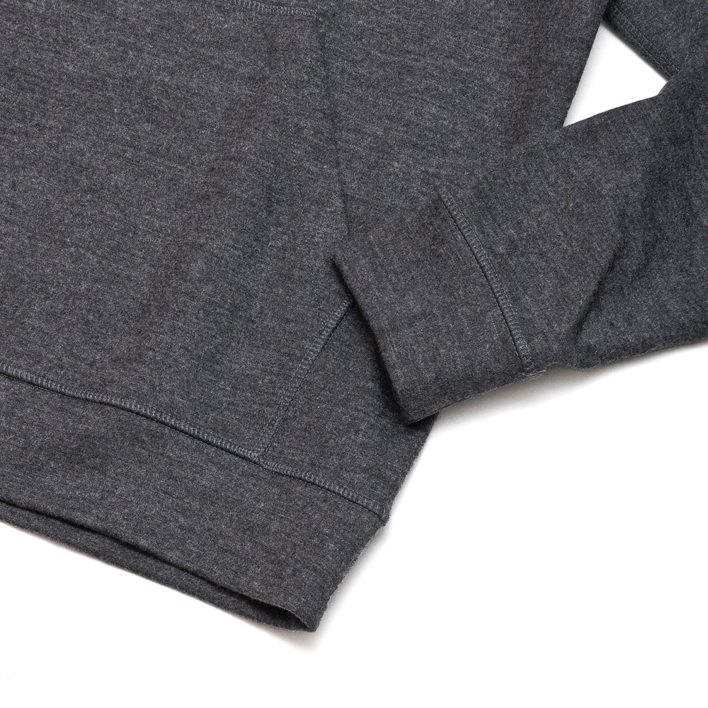 Norse Projects Vagn Wool Hood Sweater Charcoal Melange at shoplostfound, cuff