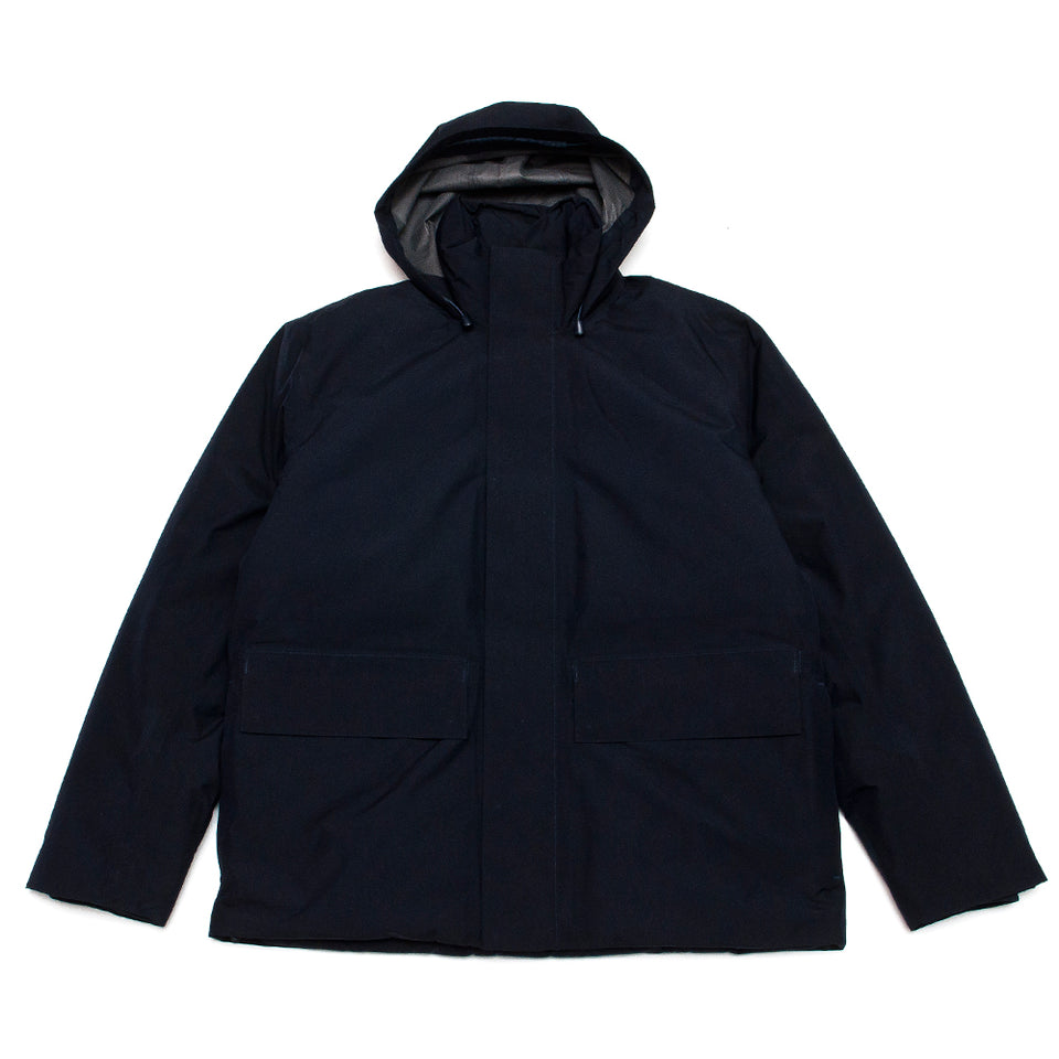 Norse Projects Ystad Down Gore Tex Dark Navy at shoplostfound, front
