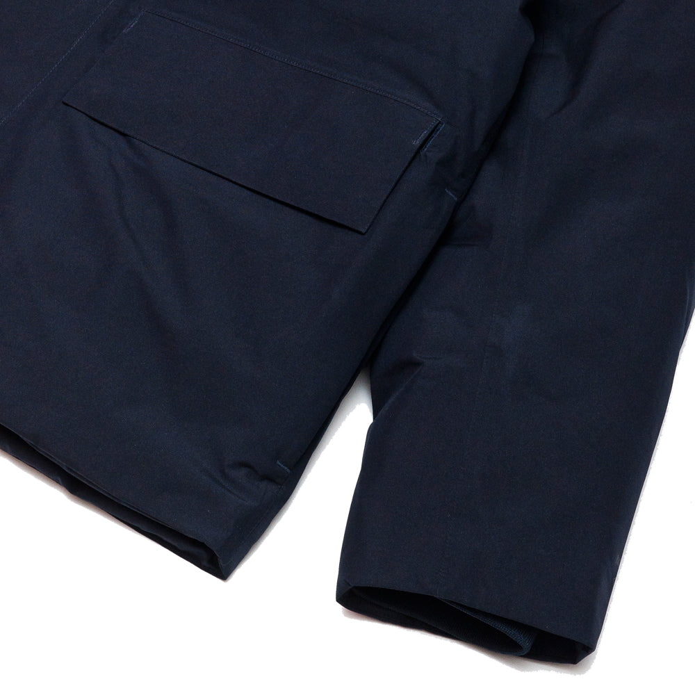 Norse Projects Ystad Down Gore Tex Dark Navy at shoplostfound, cuff