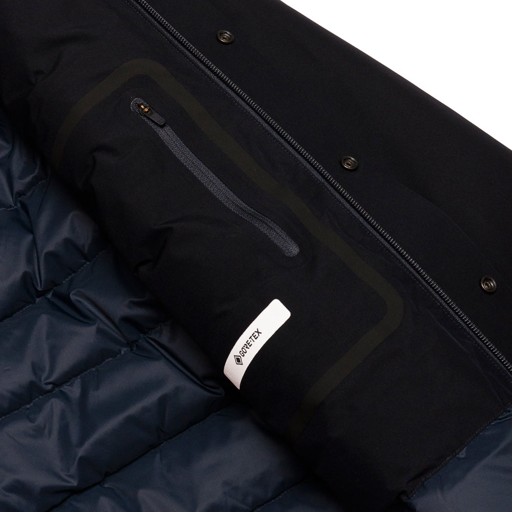 Norse Projects Ystad Down Gore Tex Dark Navy at shoplostfound, tag