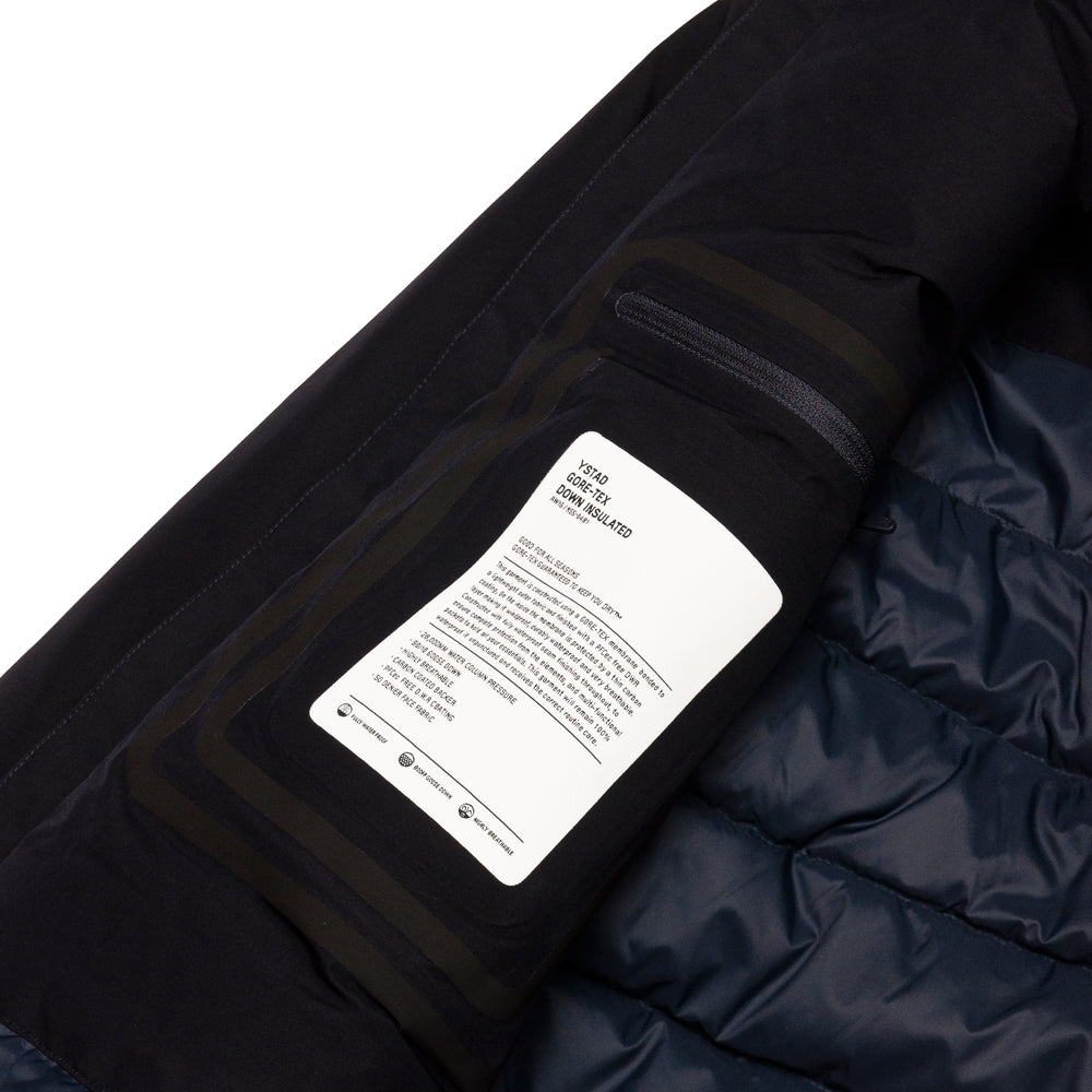 Norse Projects Ystad Down Gore Tex Dark Navy at shoplostfound, side