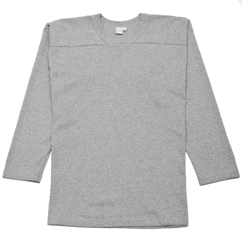 PAA Long Sleeve Football Tee Heather Grey at shoplostfound, front