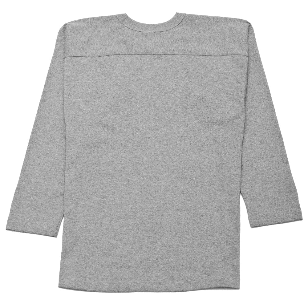 PAA Long Sleeve Football Tee Heather Grey at shoplostfound, back
