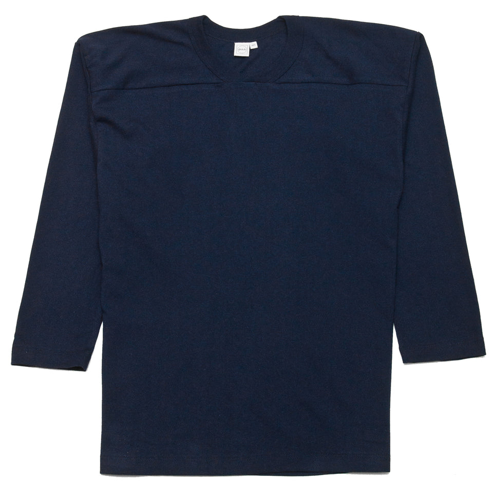 PAA Long Sleeve Football Tee Navy at shoplostfound, front