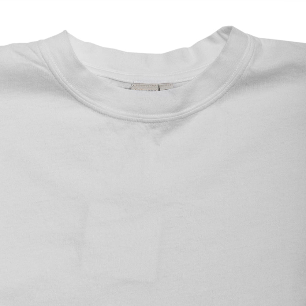 PAA Sort Sleeve Tee Two White at shoplostfound, neck