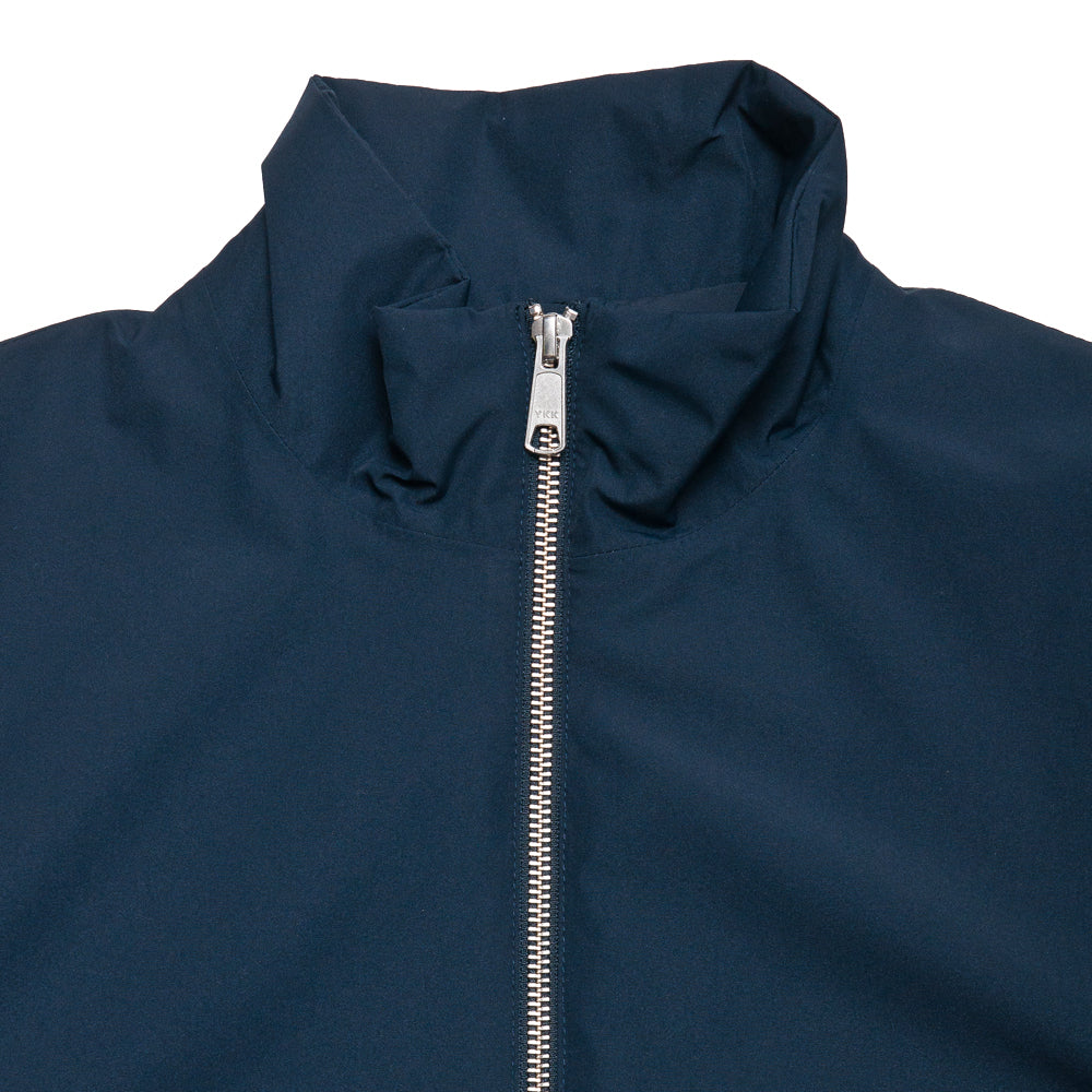 Peak Performance Blizzard Jacket Navy at shoplostfound, neck