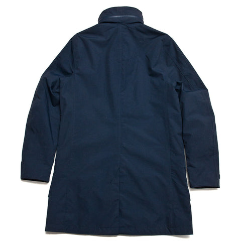 Peak Performance Tech Water Repellent Coat Blue Shadow at shoplostfound, front