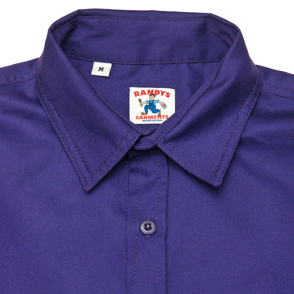 Randy's Garments Inspector Shirt Purple shoplostfound neck