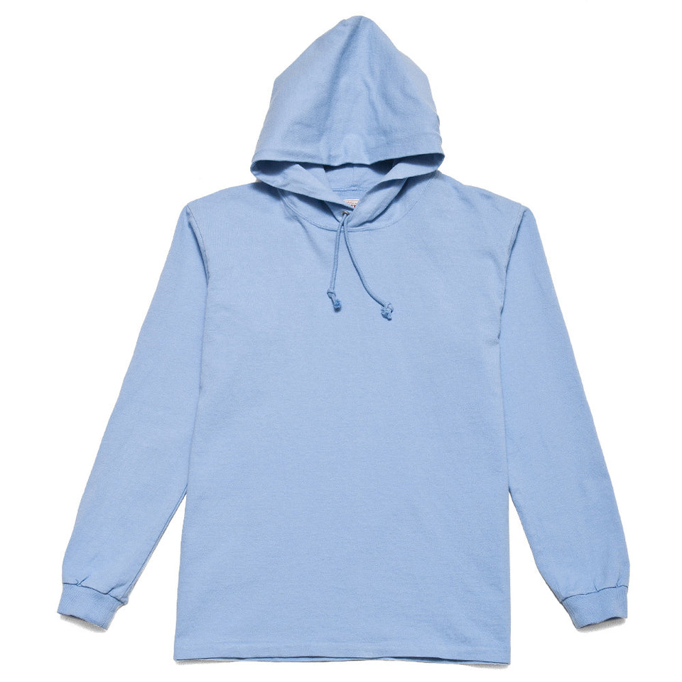 Rocky Mountain Featherbed LS Tee Hoodie Sax at shoplostfound, front