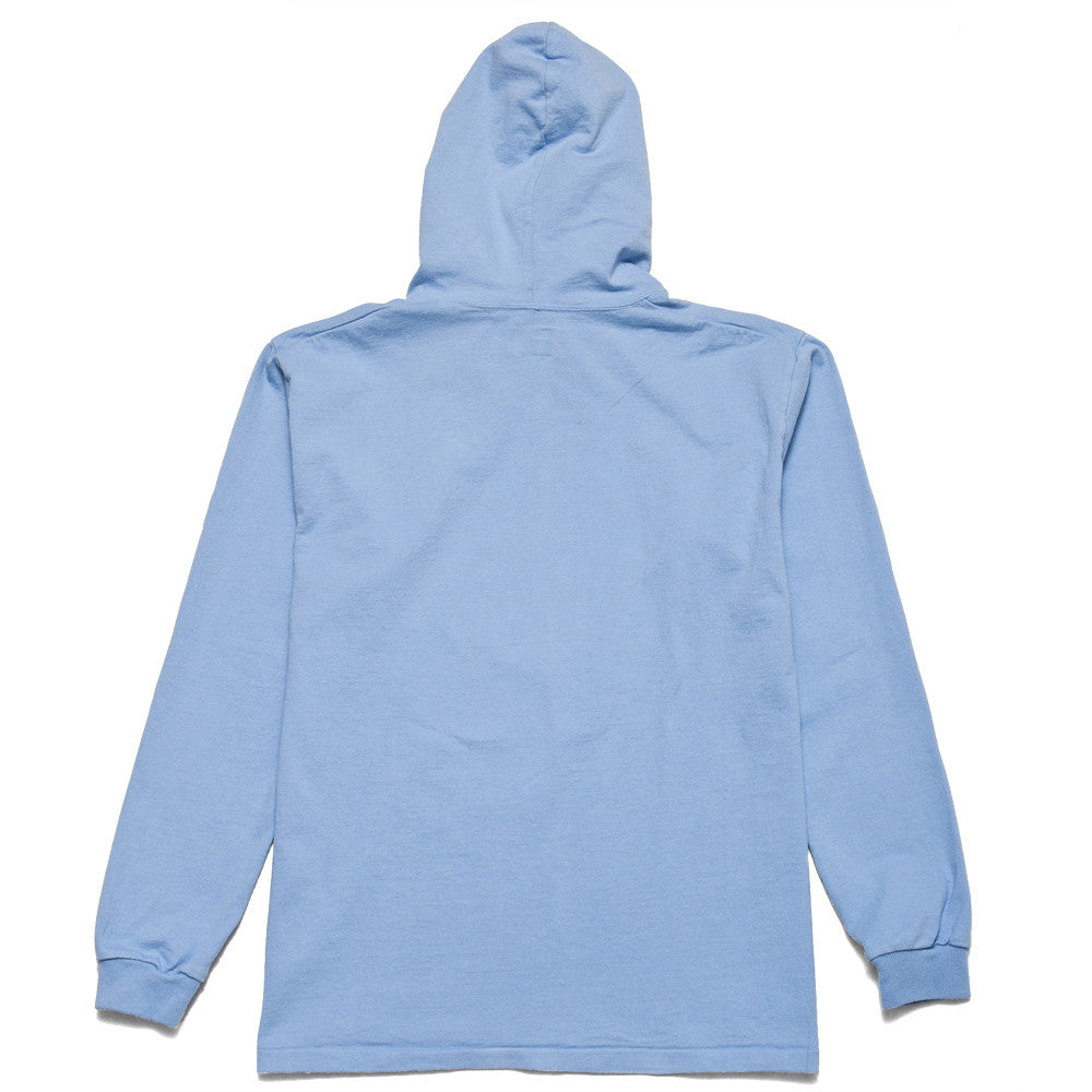 Rocky Mountain Featherbed LS Tee Hoodie Sax at shoplostfound, back
