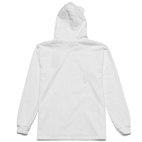 Rocky Mountain Featherbed LS Tee Hoodie White at shoplostfound, front
