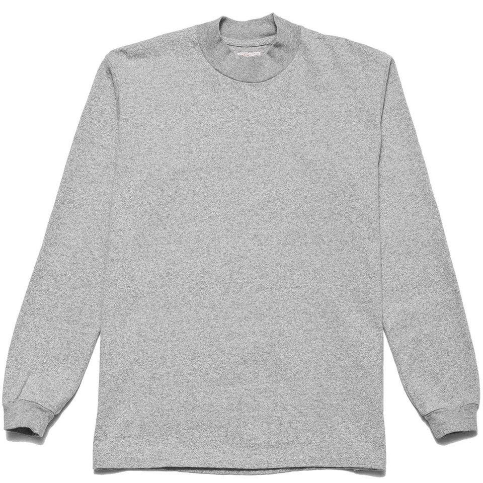 Rocky Mountain Featherbed Mock Neck LS Tee Grey at shoplostfound, front