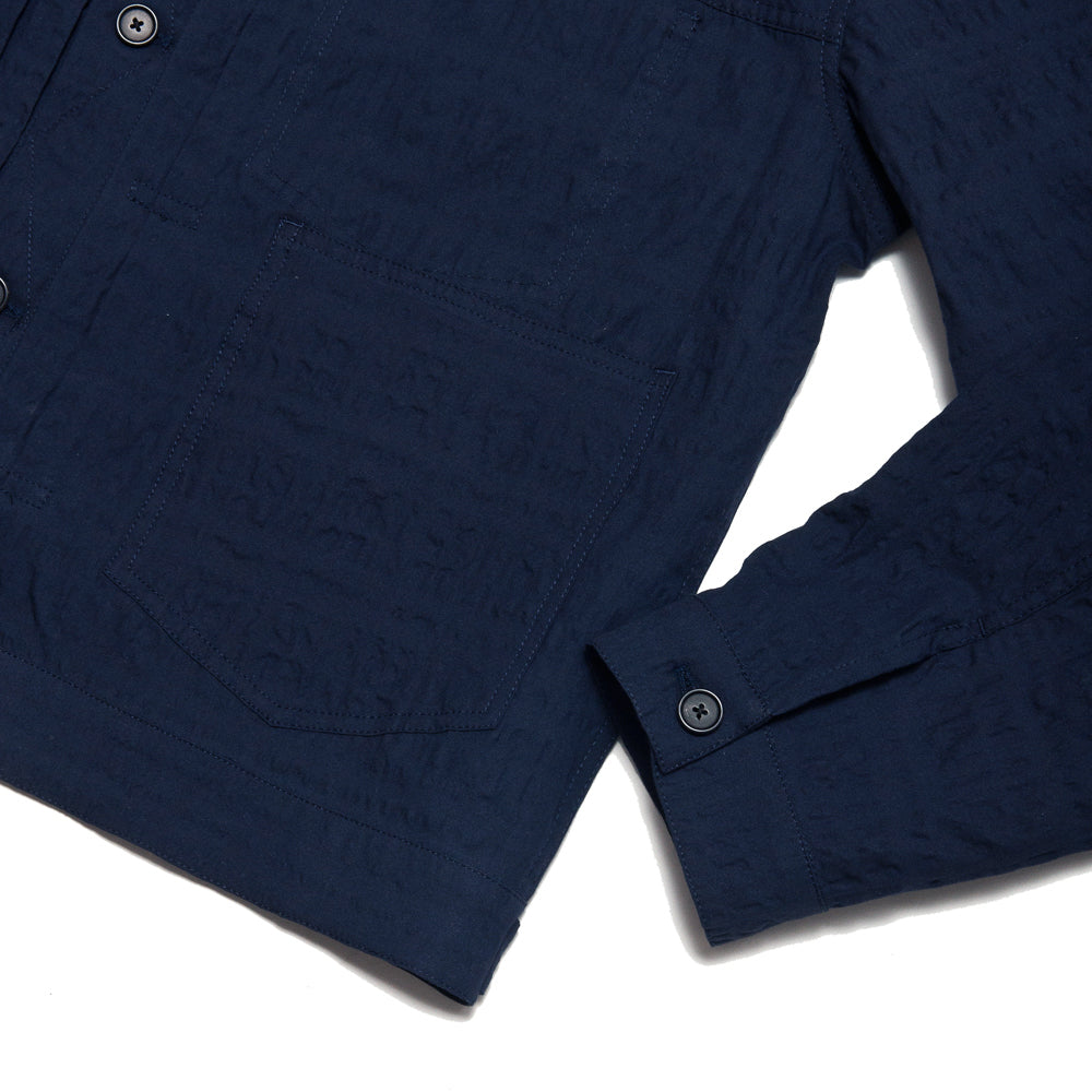 S.K. Manor Hill Puckered Type 100 Jacket Navy at shoplostfound, cuff