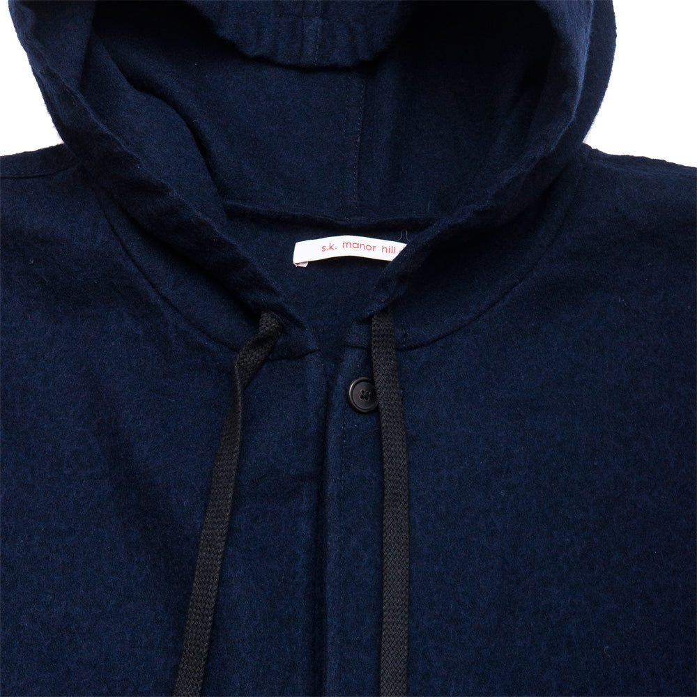 S.K. Manor Hill Trek Hoody Navy at shoplostfound, neck