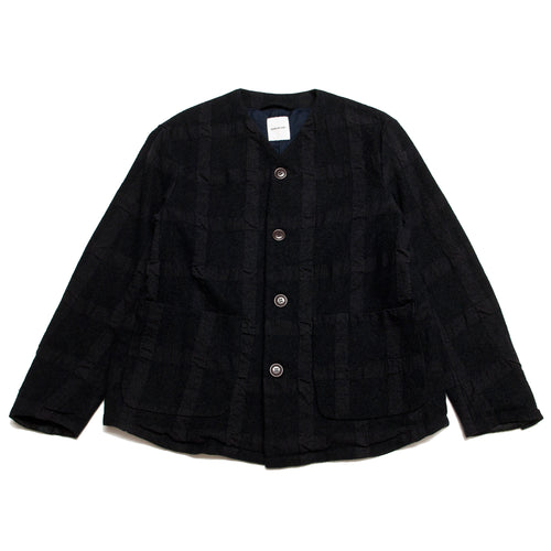 Sage de Cret A Plainly Coloured Jacket Charcoal at shoplostfound, front