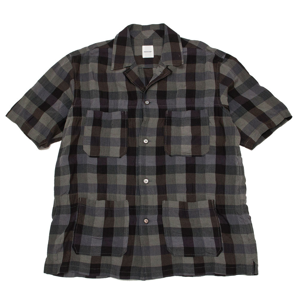 Sage de Cret Short Sleeve Shirt Grey shoplostfound 1