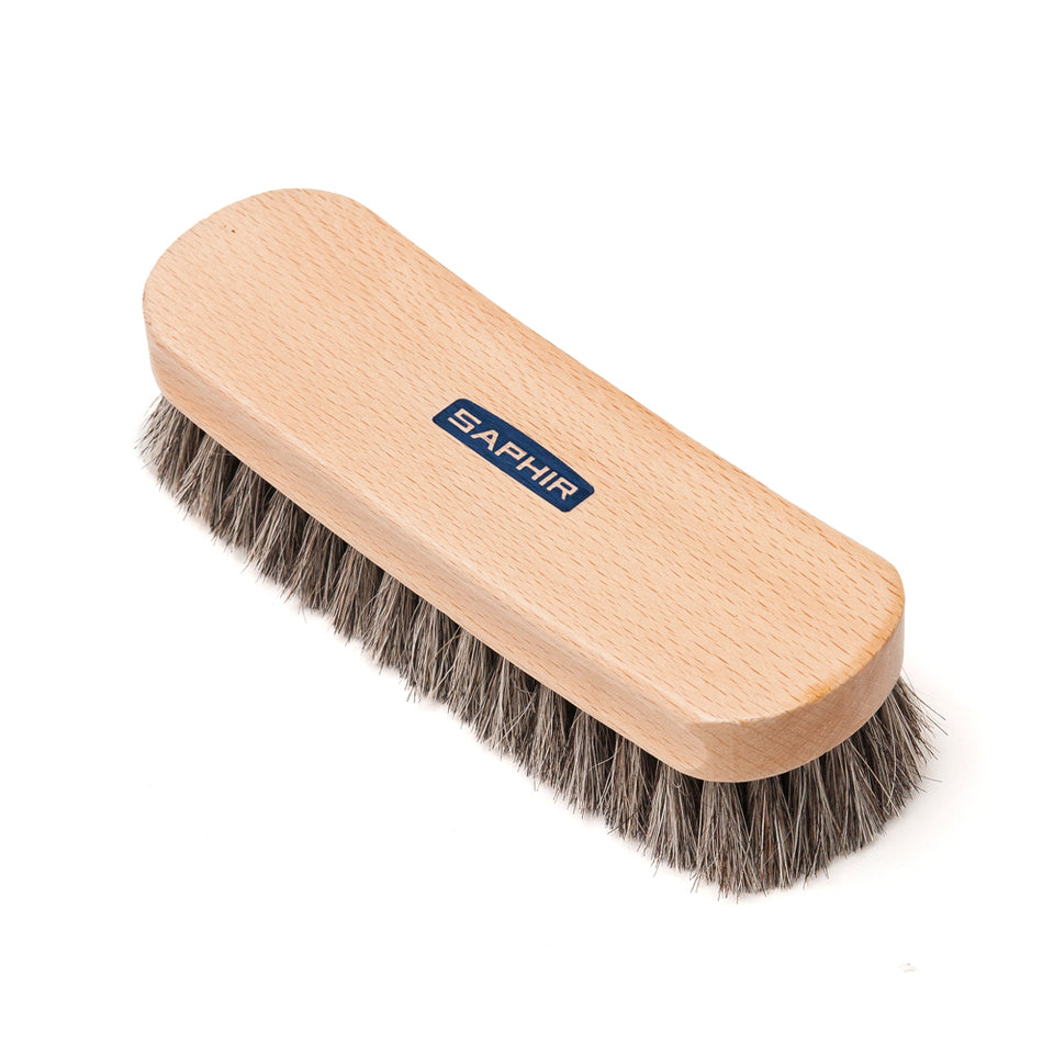 Saphir Horsehair Shine Brush 18cm at shoplostfound, 1