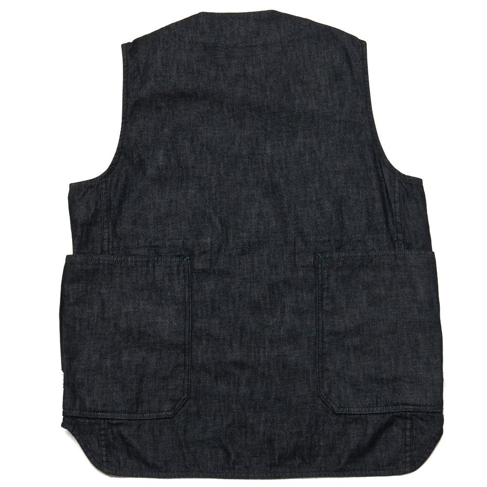 Sassafras Fall Leaf Gardener Vest Black at shoplostfound, back