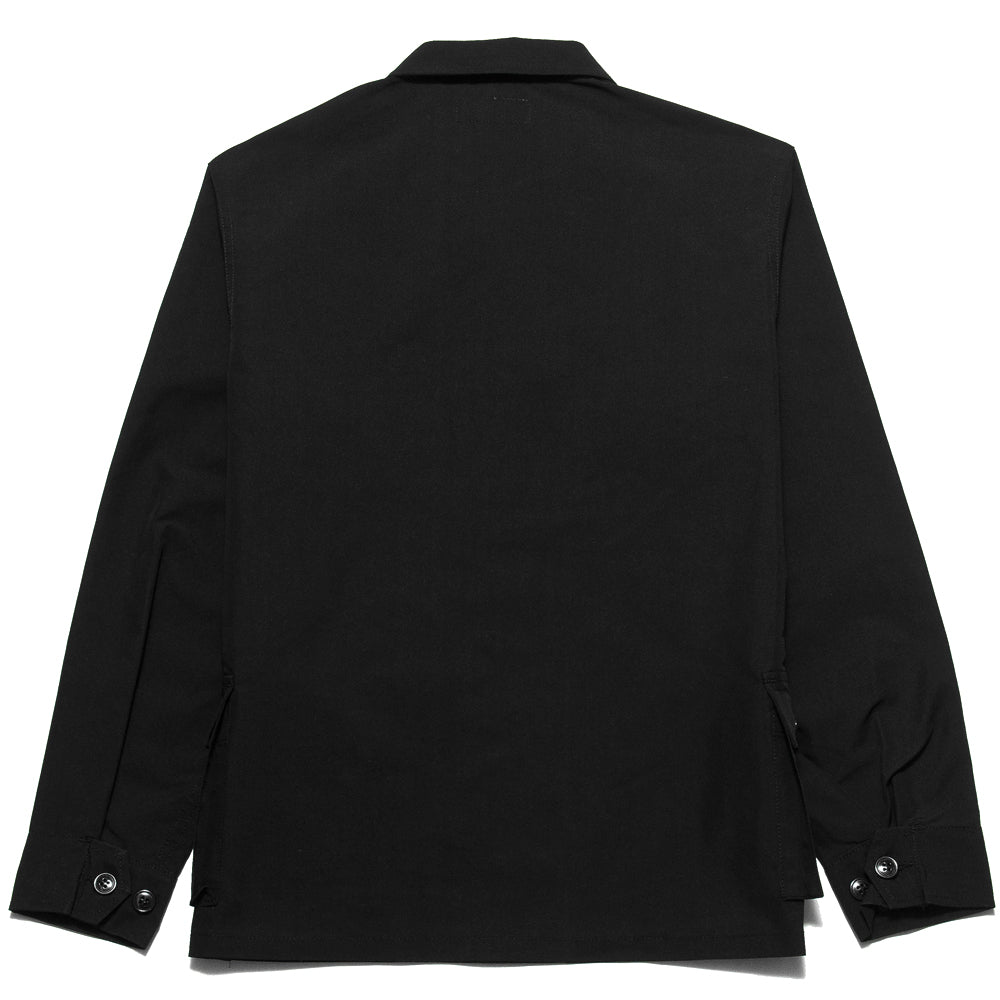 Sassafras G.D.U. Jacket Black Nylon at shoplostfound, back