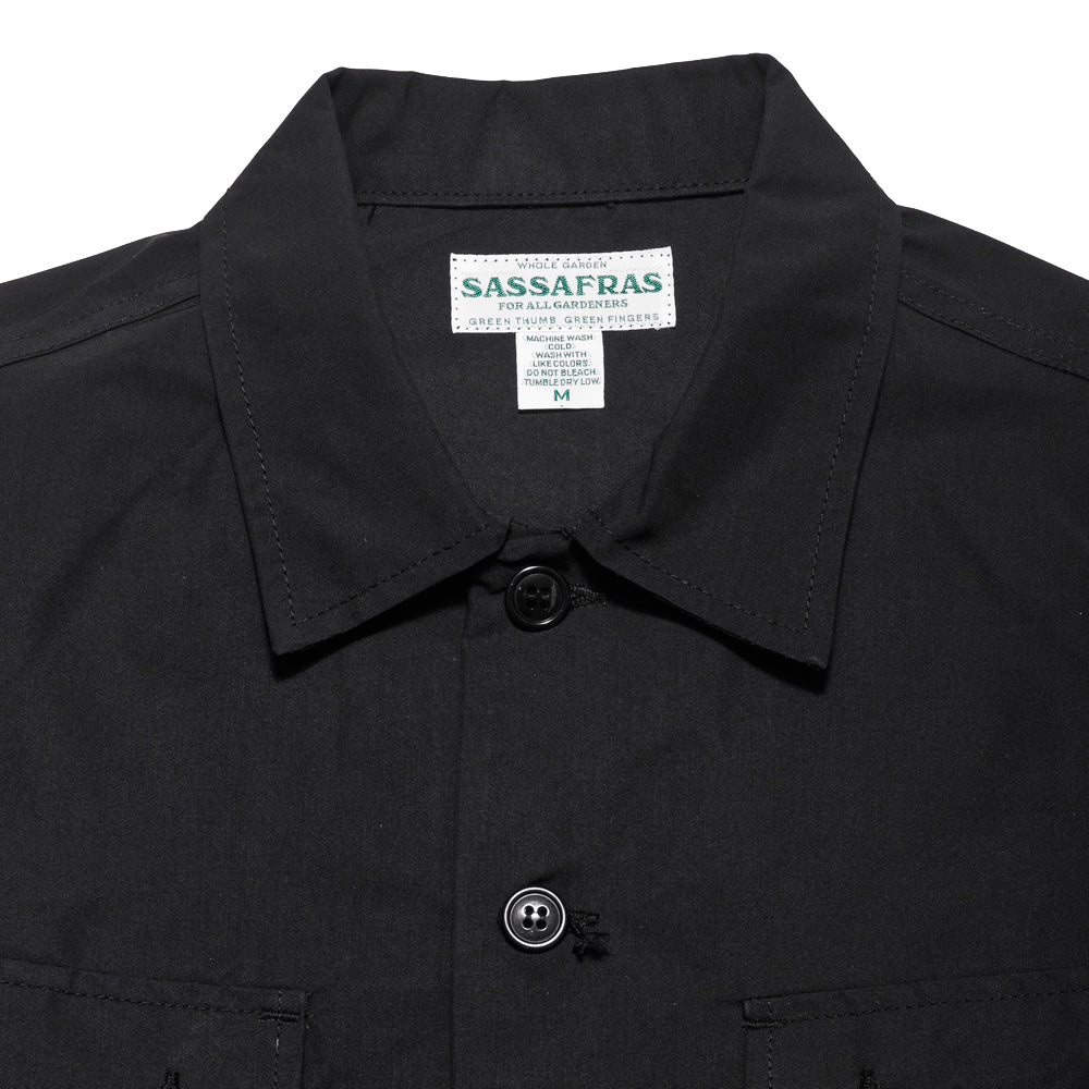 Sassafras G.D.U. Jacket Black Nylon at shoplostfound, neck