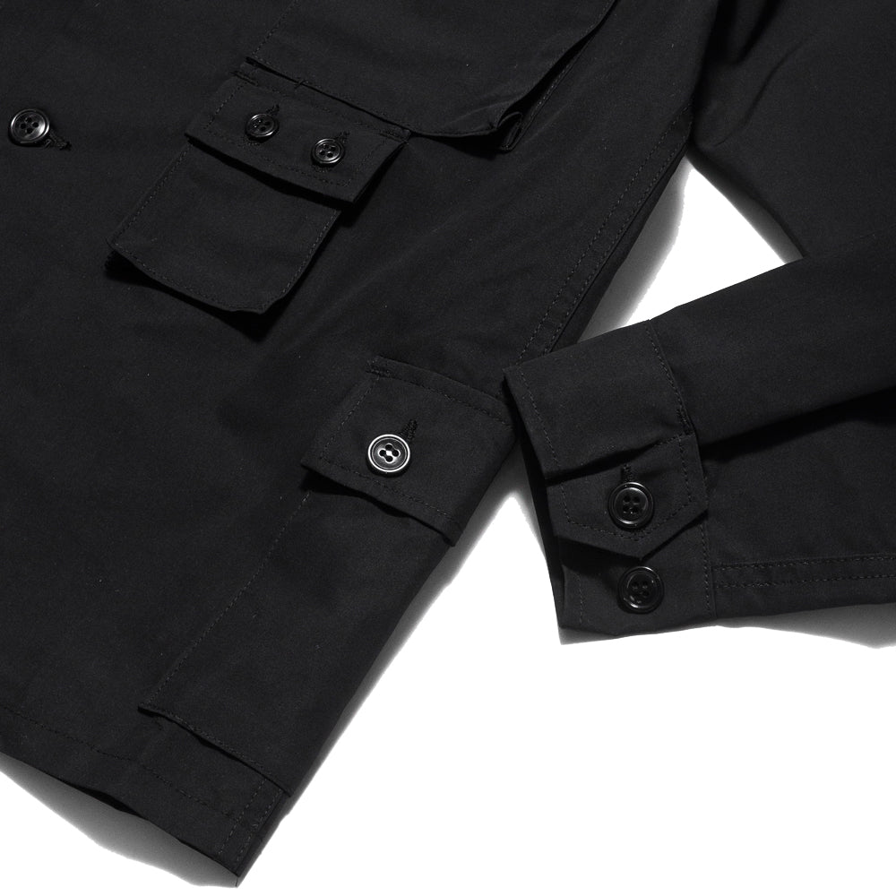 Sassafras G.D.U. Jacket Black Nylon at shoplostfound, cuff