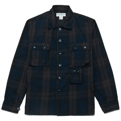Sassafras G.D.U. Jacket Check Memory Twill at shoplostfound, front