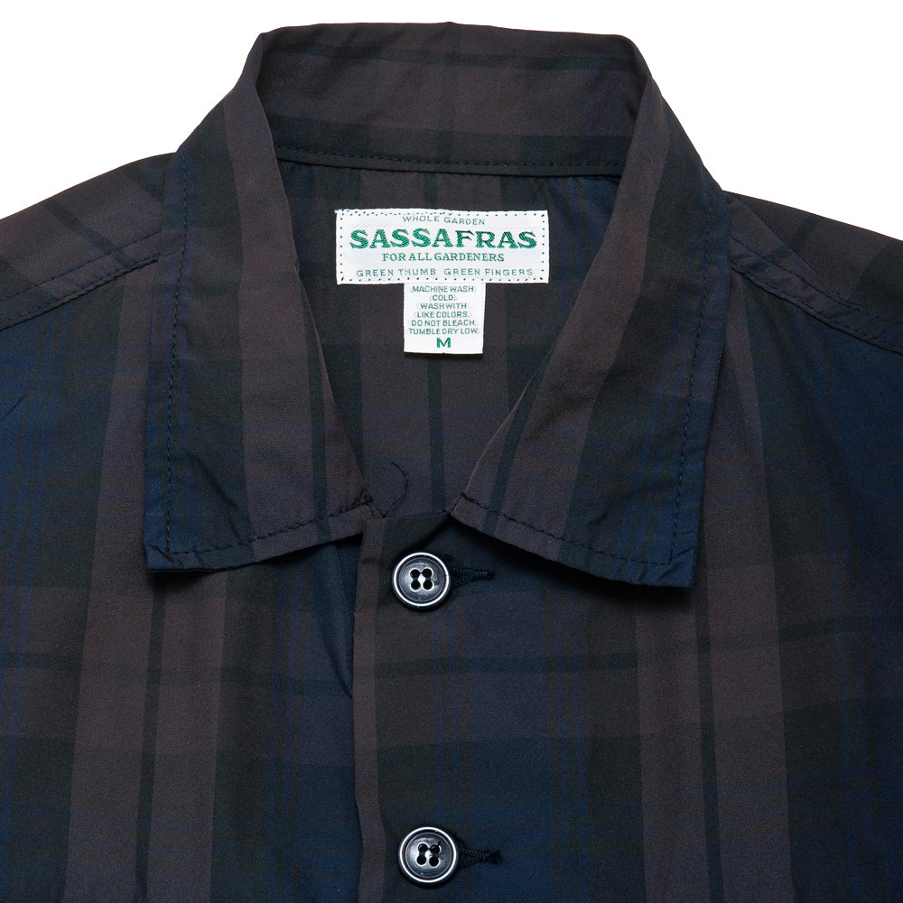 Sassafras G.D.U. Jacket Check Memory Twill at shoplostfound, neck